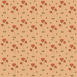 Poppy Flowers Pattern Royaltyfri Fotografi