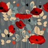 Poppy Flowers Pattern Fotografie Stock Libere da Diritti