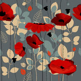 Poppy flowers pattern Royalty Free Stock Photos