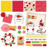 Poppy Flowers Theme royalty-vrije illustratie