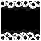 Poppy frame on the black background Royalty Free Stock Image