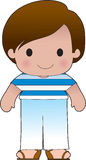 Poppy Greek Boy. A smiling, well dressed young lad wears clothing representative of Greece vector illustration