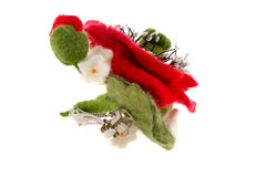 Poppy hair clip made of wool Stock Image