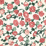Poppy Halftone Textured Background rossa Fotografie Stock Libere da Diritti