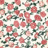 Poppy Halftone Textured Background rouge Illustration Libre de Droits