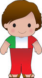 Poppy Italian Boy. A smiling, well dressed young lad wears clothing representative of Italy royalty free illustration