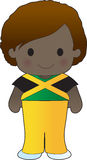 Poppy Jamaica Boy. A smiling, well dressed young lad wears clothing representative of Jamaica vector illustration