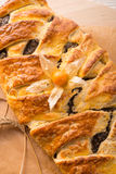 Poppy - marzipan plaited loaf Stock Photos