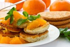 Poppy muffins with orange jam Royalty Free Stock Photos