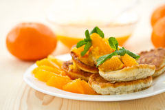 Poppy muffins with orange jam Royalty Free Stock Images
