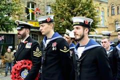 Poppy Parade dans Ypres Photos stock