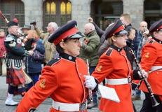 Poppy Parade dans Ypres Photos libres de droits