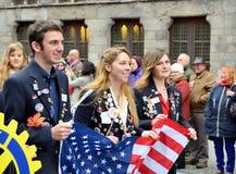 Poppy Parade dans Ypres Photo libre de droits