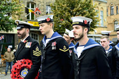 Poppy Parade in Ypres Stock Photos