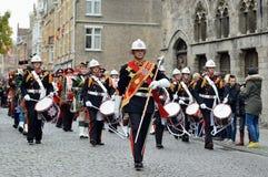 Poppy Parade in Ypres Royalty Free Stock Photo