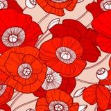 Poppy pattern Stock Photography