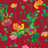 Poppy pattern Stock Photo