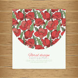 Poppy pattern. Floral template. Royalty Free Stock Images