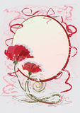 Poppy postcard Royalty Free Stock Photography