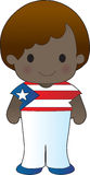Poppy Puerto Rico Boy. A smiling, well dressed young lad wears clothing representative of Puerto Rico vector illustration