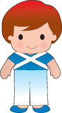 Poppy Scotland Boy. A smiling, well dressed young lad wears clothing representative of Scotland royalty free illustration