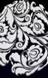 Poppy scroll motiff Royalty Free Stock Photo