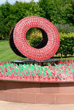 Poppy sculpture – lest we forget Royalty Free Stock Images