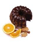 Poppy sead cake, oranges and cinnamon Stock Photos