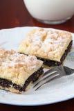 Poppy sead and hazelnut crumble cake Royalty Free Stock Photography