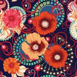 Poppy seamless pattern. Eps 10 Stock Photos