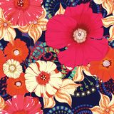 Poppy seamless pattern. Eps 10 Stock Image