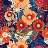 Poppy seamless pattern. Eps 10 Royalty Free Stock Image