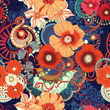 Poppy seamless pattern. Eps 10 Stock Photos