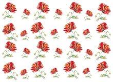 Poppy seamless pattern. Vector illustration royalty free illustration