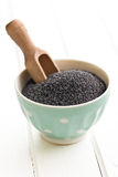 Poppy seed in bowl Royalty Free Stock Photo