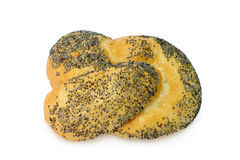 Poppy seed bread roll Royalty Free Stock Photos