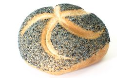 Poppy Seed Bun Royalty Free Stock Photo