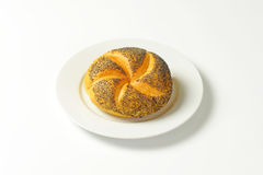 Poppy seed bun Royalty Free Stock Photos