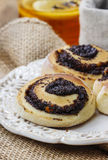 Poppy seed buns Royalty Free Stock Images