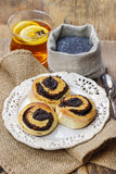 Poppy seed buns Stock Images
