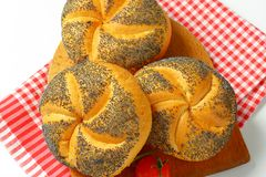 Poppy seed buns Stock Photos