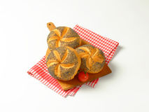 Poppy seed buns Stock Image