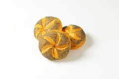 Poppy seed buns Royalty Free Stock Photography