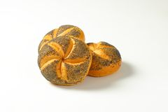 Poppy seed buns Royalty Free Stock Photo