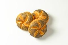Poppy seed buns Stock Photo