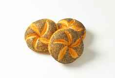 Poppy seed buns Stock Photos