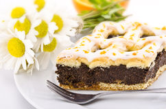Poppy-seed cake Royalty Free Stock Images