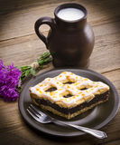 Poppy-seed cake Stock Images