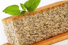 Poppy Seed Cake Fotos de archivo libres de regalías