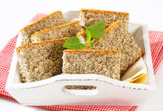 Poppy Seed Cake Royalty Free Stock Photo